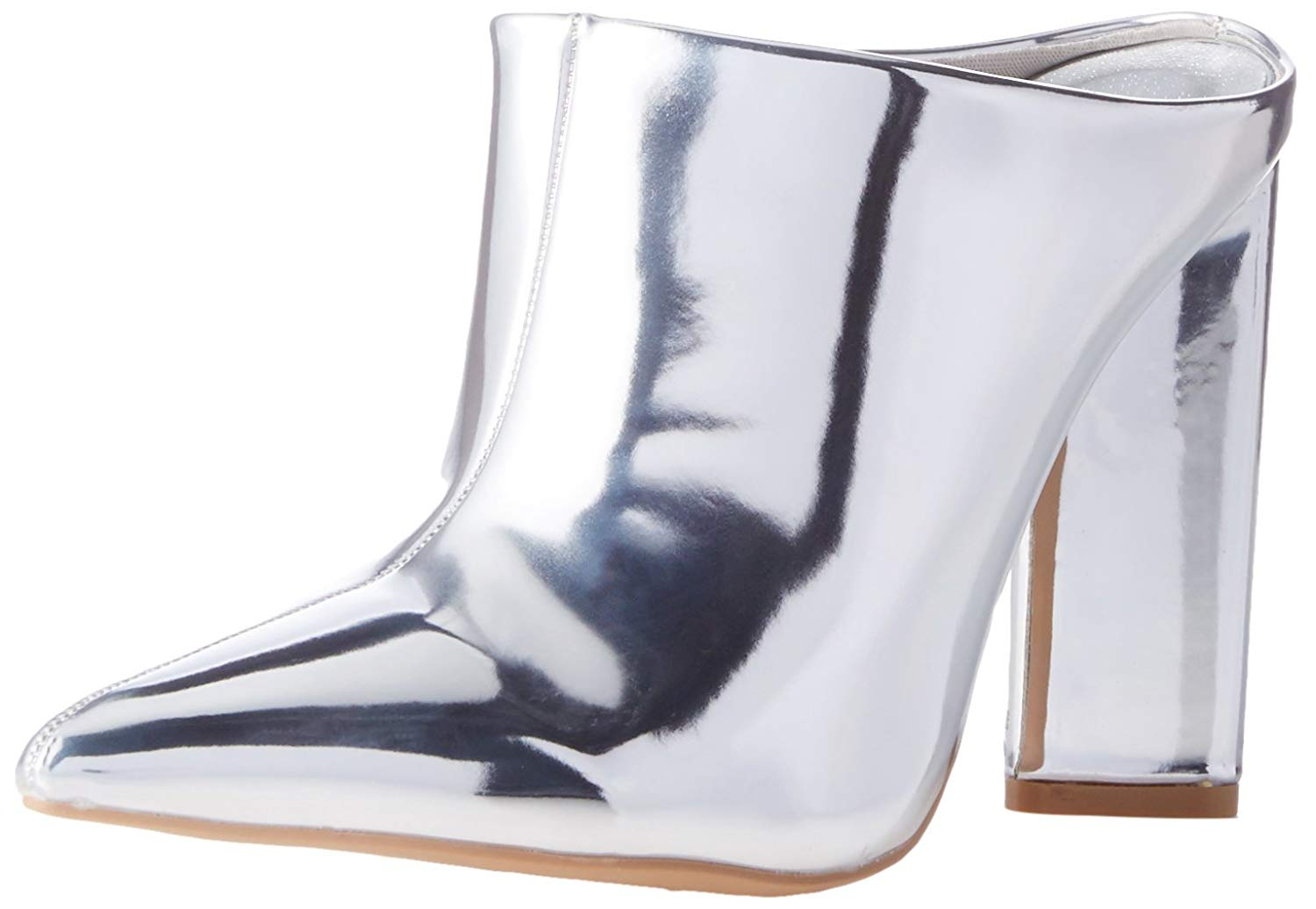 032539f3f8a90 Details about Qupid Womens Miss-40 Pointed Toe Mules, Silver, Size 6.0 elrx