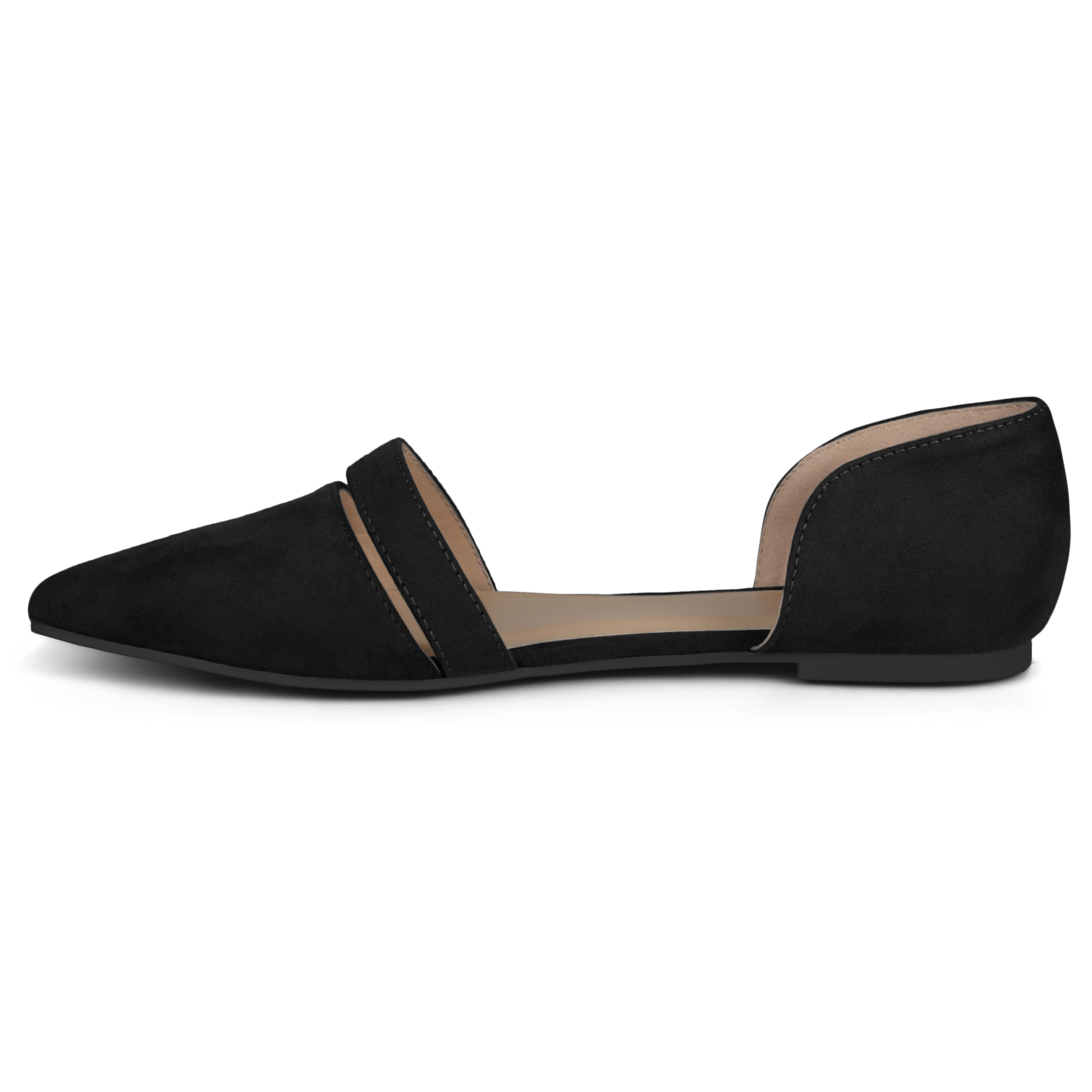 Journee Collection Womens vera Fabric Pointed Toe Ankle Strap Slingback Flats