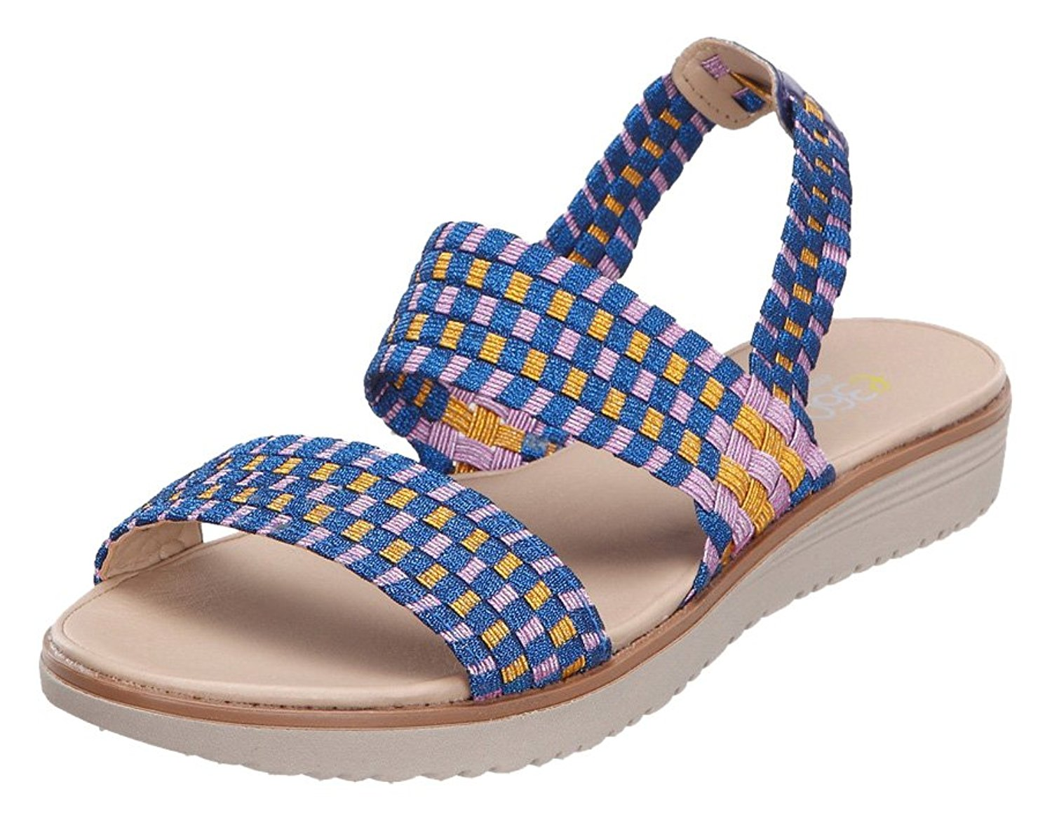 Easy Spirit Womens TALINI Open Toe Casual Slide Sandals Blue Size 9.5