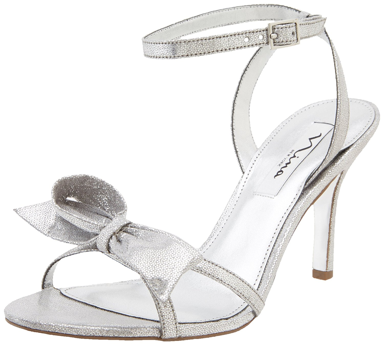 Nina Women's Vianna-YY Dress Sandal Dark Silver Size 6.5