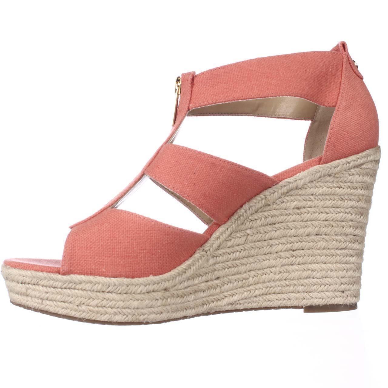 2451e3aed7 Michael Michael Kors Womens Damita Canvas Open Toe Casual Platform Sandals