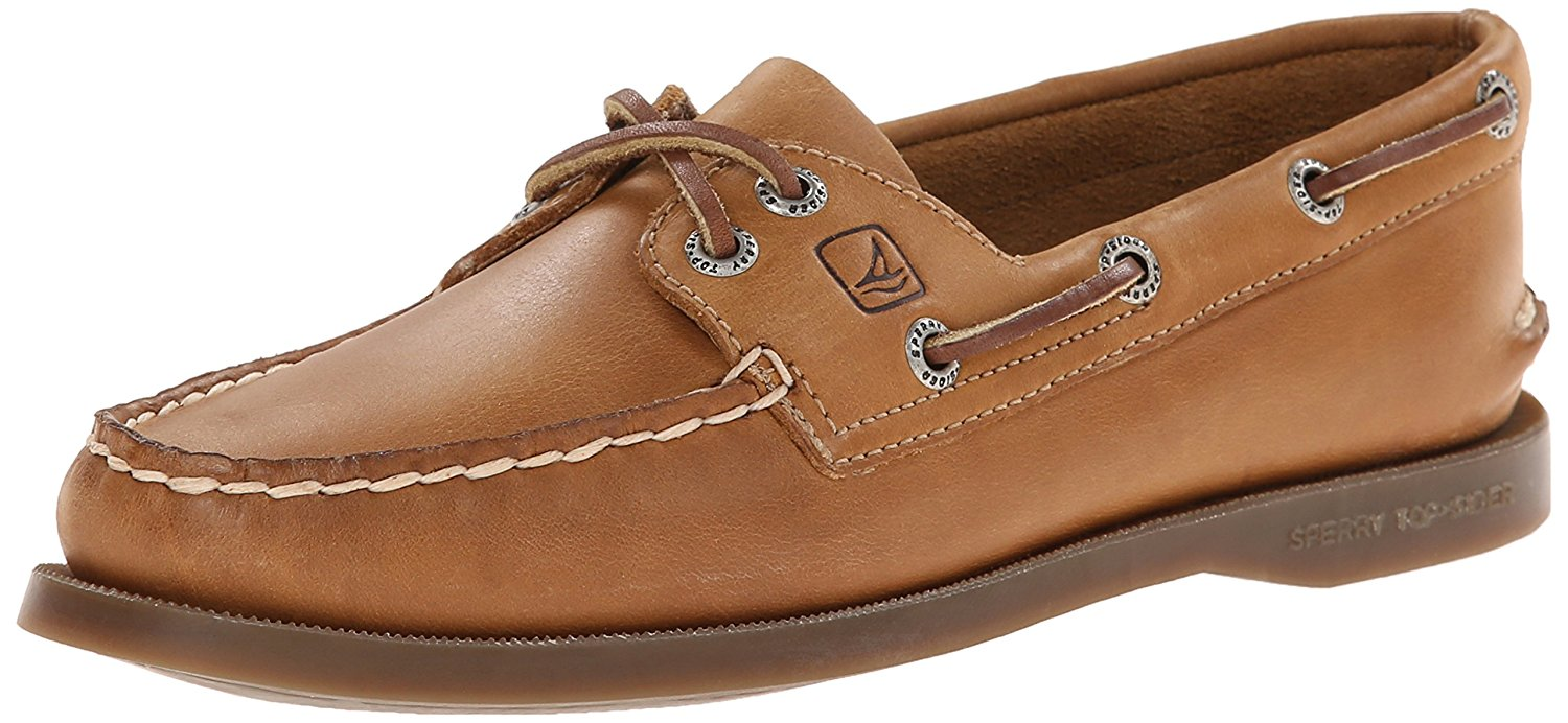 Sperry Womens Sahara Leather Closed Toe Loafers