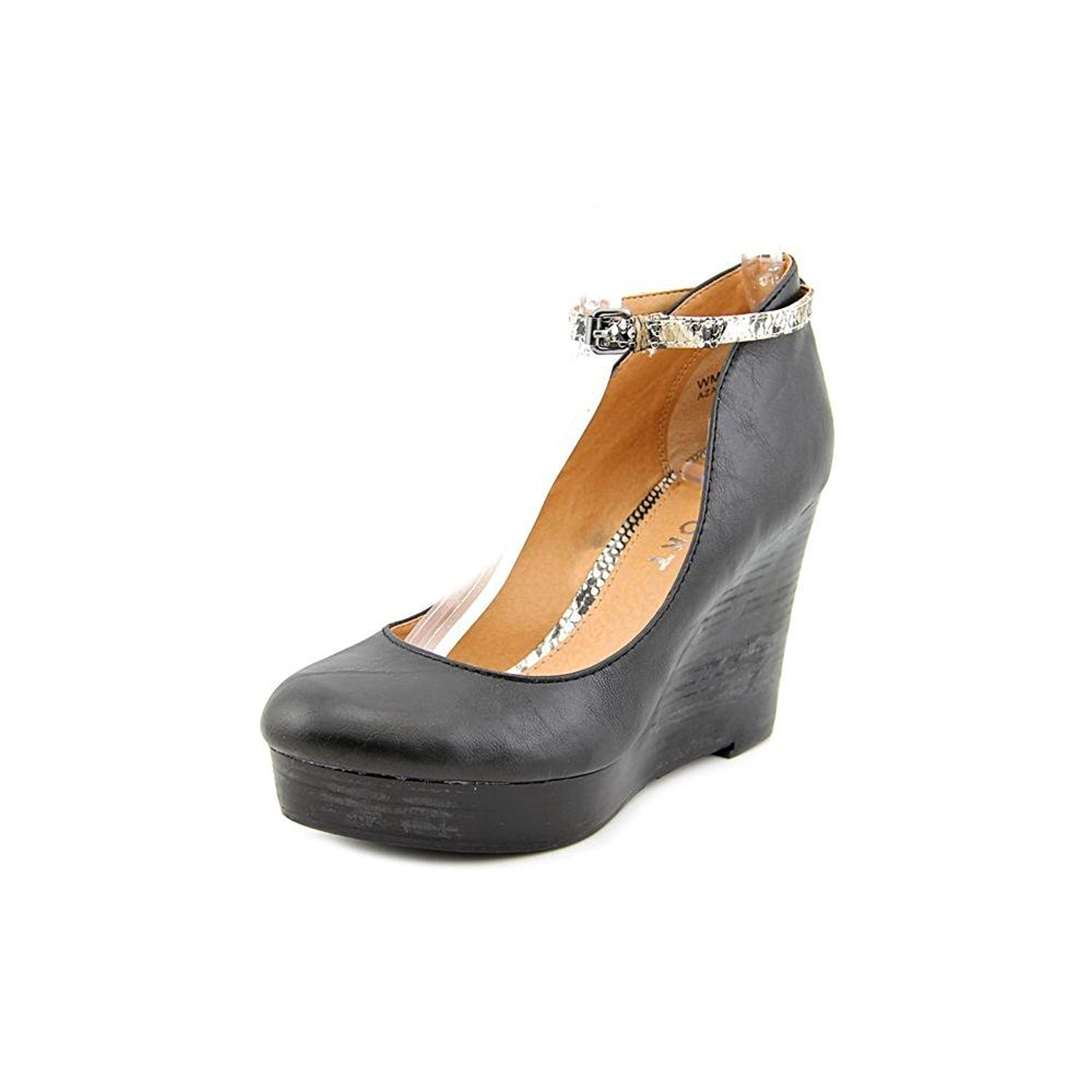 Report Women's Azaria Wedge Pump Black Size 9.5 aLOL