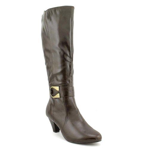 Karen Scott Womens Jacky Almond Toe Mid-Calf Fashion Boots, Brown, Size 5.0