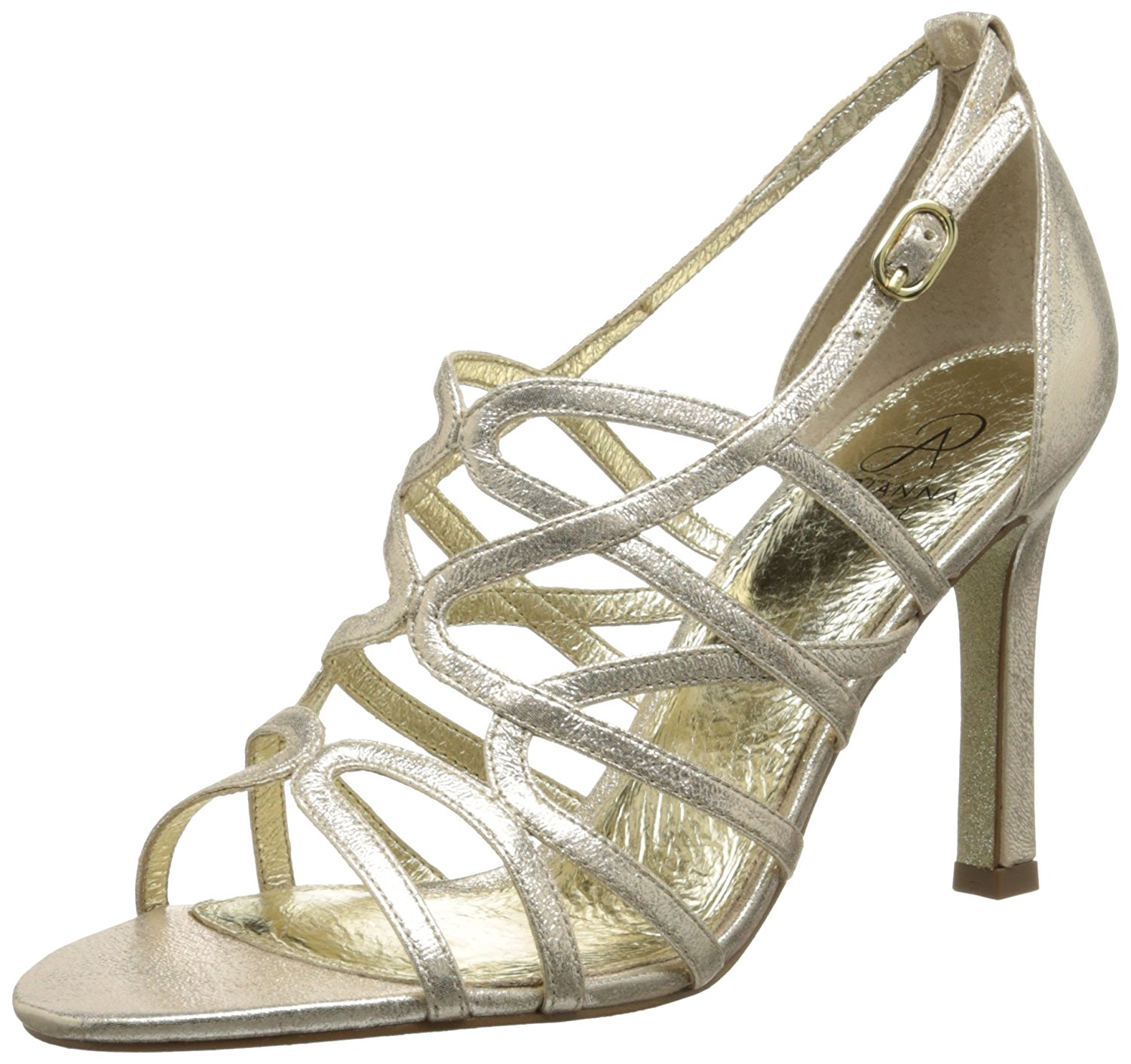 Adrianna Papell Women's Elda Dress Pump Gold Size 10.0