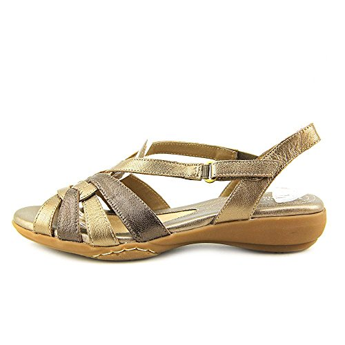 Naturalizer Womens convince Leather Open Toe Casual Ankle Strap Gold Size 110