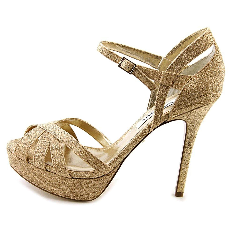 Nina Womens SENORAYG Open Toe Formal Gold Size 95