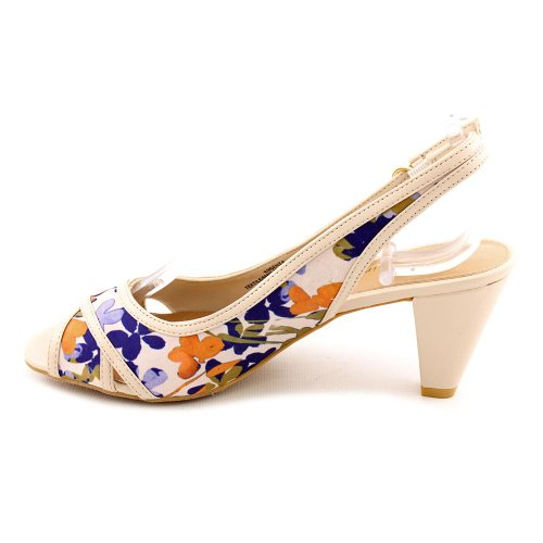 Easy Spirit Womens Senza Fabric Open Toe SlingBack Purple Flower Size 9.0