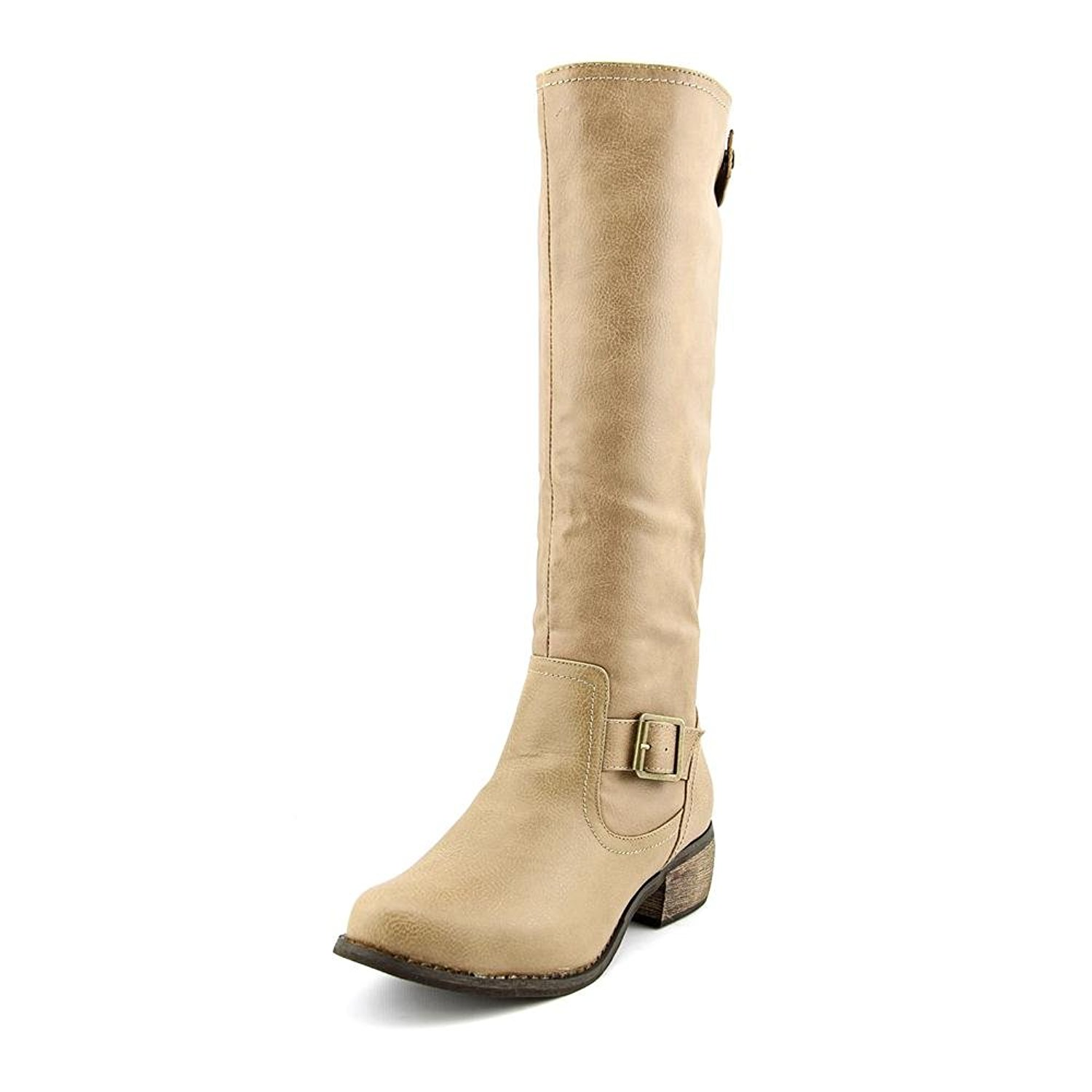 Rampage Womens Sylvestra Almond Toe Mid-Calf Fashion Boots, Taupe, Size 9.0 WQLT