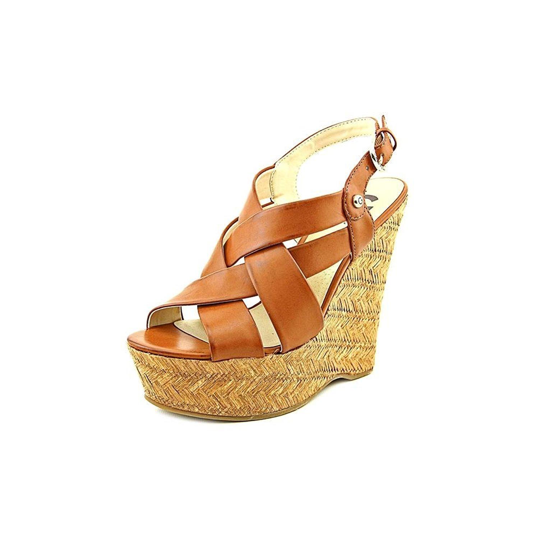G by Guess Womens HAVANA Open Toe Casual Platform Medium Brown Size 8.0 H8Vm