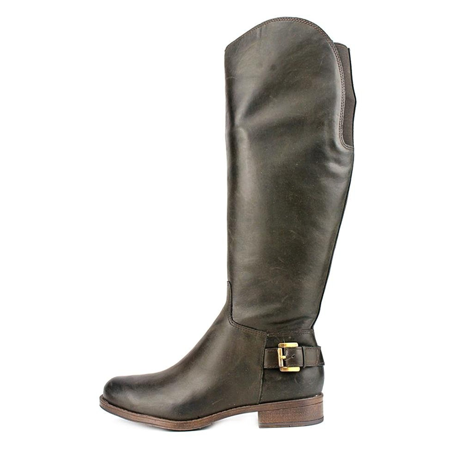 GUESS Womens Lurie Leather Almond Toe Knee High Fashion Boots Brown Size 6.5 i
