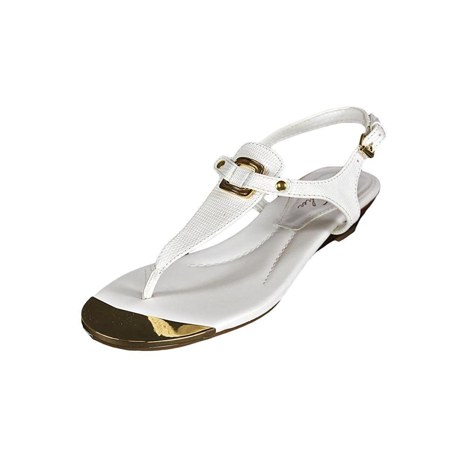 Marc Fisher Womens Barria Leather Split Toe Casual TStrap White Size 50