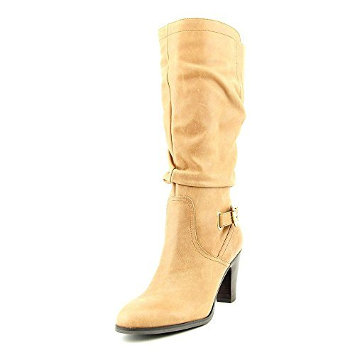 GUESS Womens Mallay Leather Almond Toe MidCalf Fashion Light Brown Size 11.0