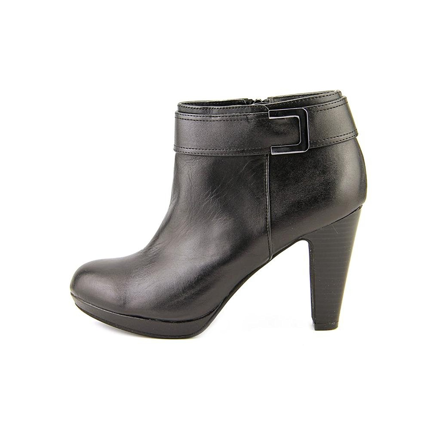 Womens Netty Leather Almond Toe Ankle Fashion Boots