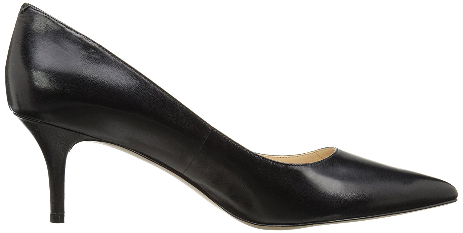 Nine West Womens Margot Leather Pointed Toe Classic Black Leather Size 10.0 hI