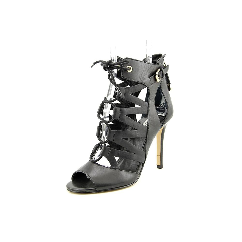 Guess Footwear Larkee Black Leather Black Size 8.5 0oz5