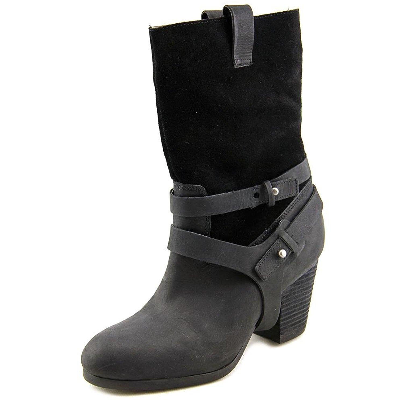 POLO Ralph Lauren Womens MATTIE Leather Closed Toe Knee High, Black, Size 9.5 5J