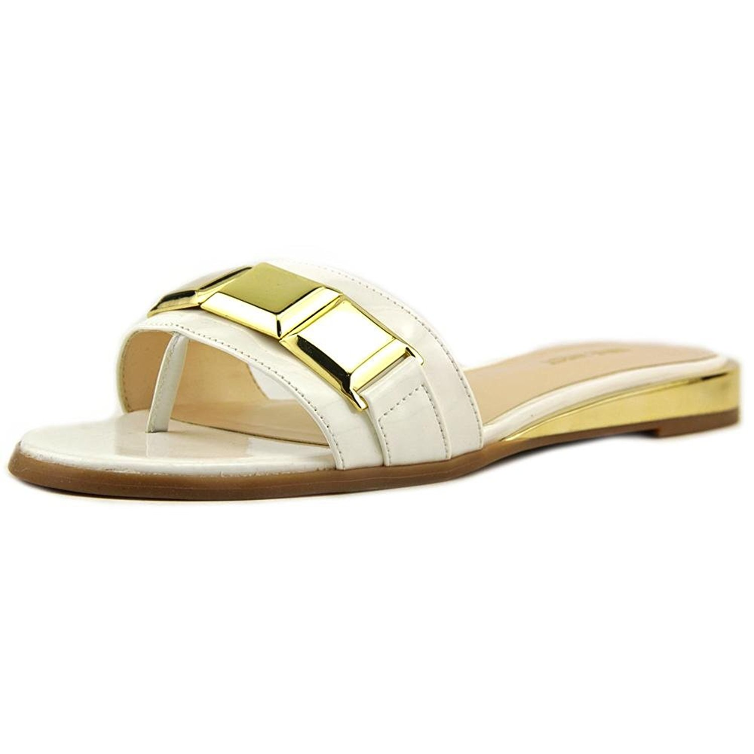 Nine West Womens XTINA Open Toe Casual Slide Sandals White Size 55