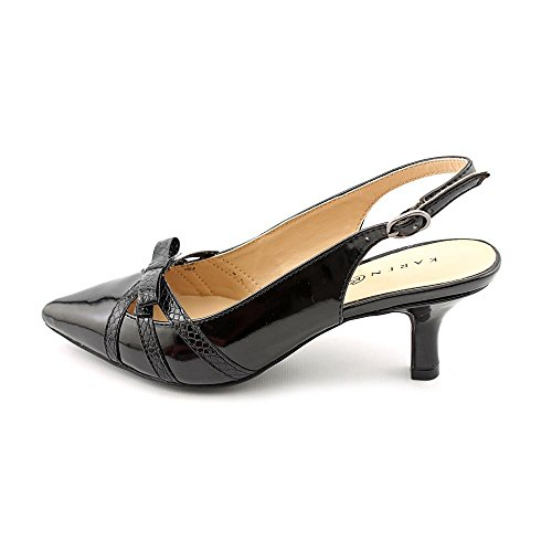 Karen Scott Womens MYANN Pointed Toe SlingBack Classic Pumps Black Size 6.5