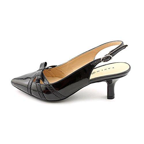 Karen Scott Womens MYANN Pointed Toe SlingBack Classic Pumps Black Size 6.5