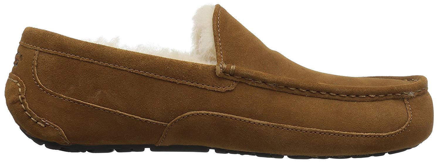 35bca9faf92 Details about Ugg Australia Mens Ascot Suede Closed Toe Slip On Slippers