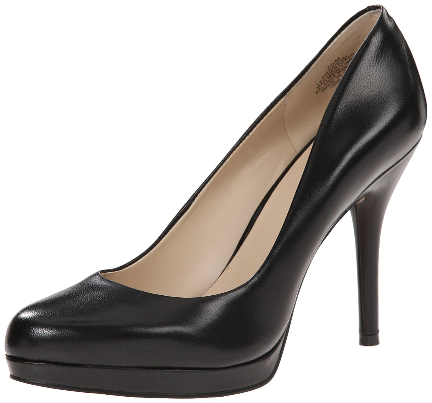 Nine West Womens KRISTAL Closed Toe Platform Pumps, Black Leather, Size 7.0 kje0