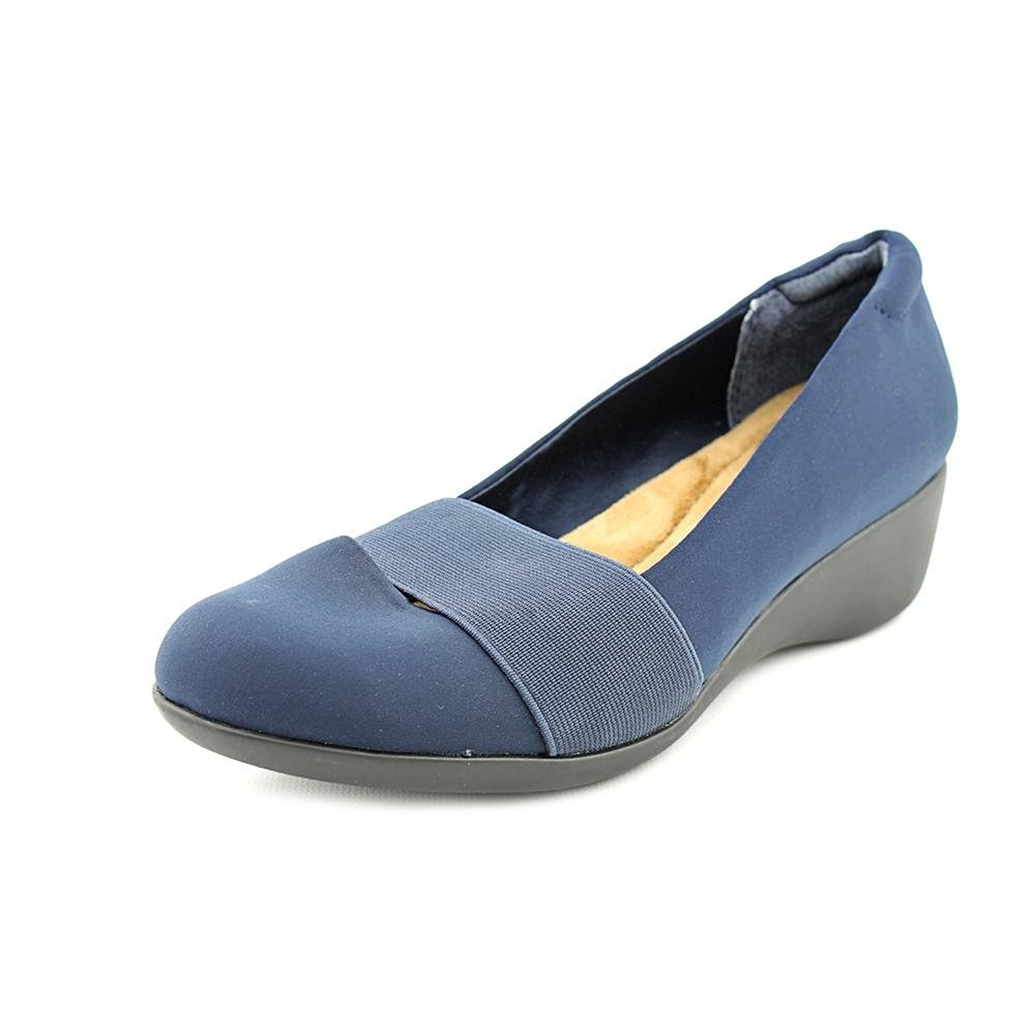 Giani Bernini Grandie Canvas Wedge Heel Navy Size 10.0