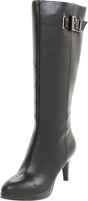 Bandolino Women's Jeney Knee-High Dress Boots, Black/Black synthetic, Size 7.5 P