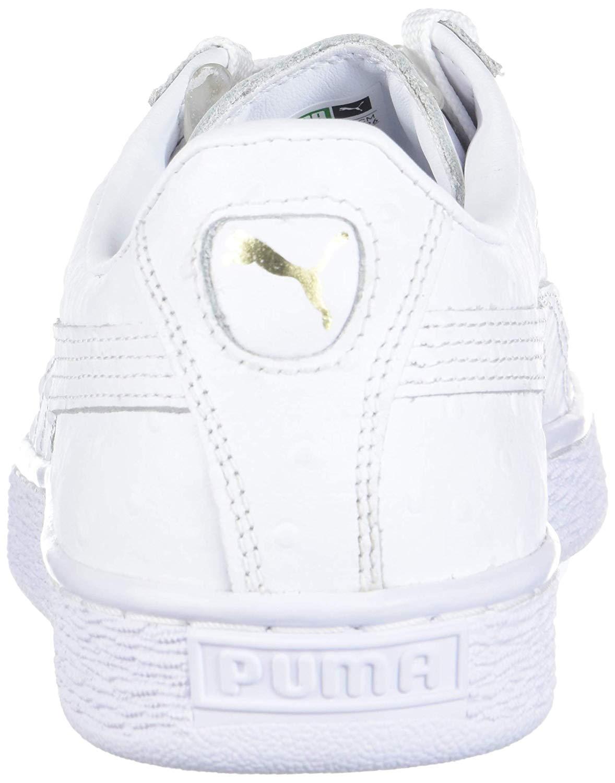 quality design bb114 69908 Details about PUMA Women's Basket Ostrich Sneaker, White, Size 9.0