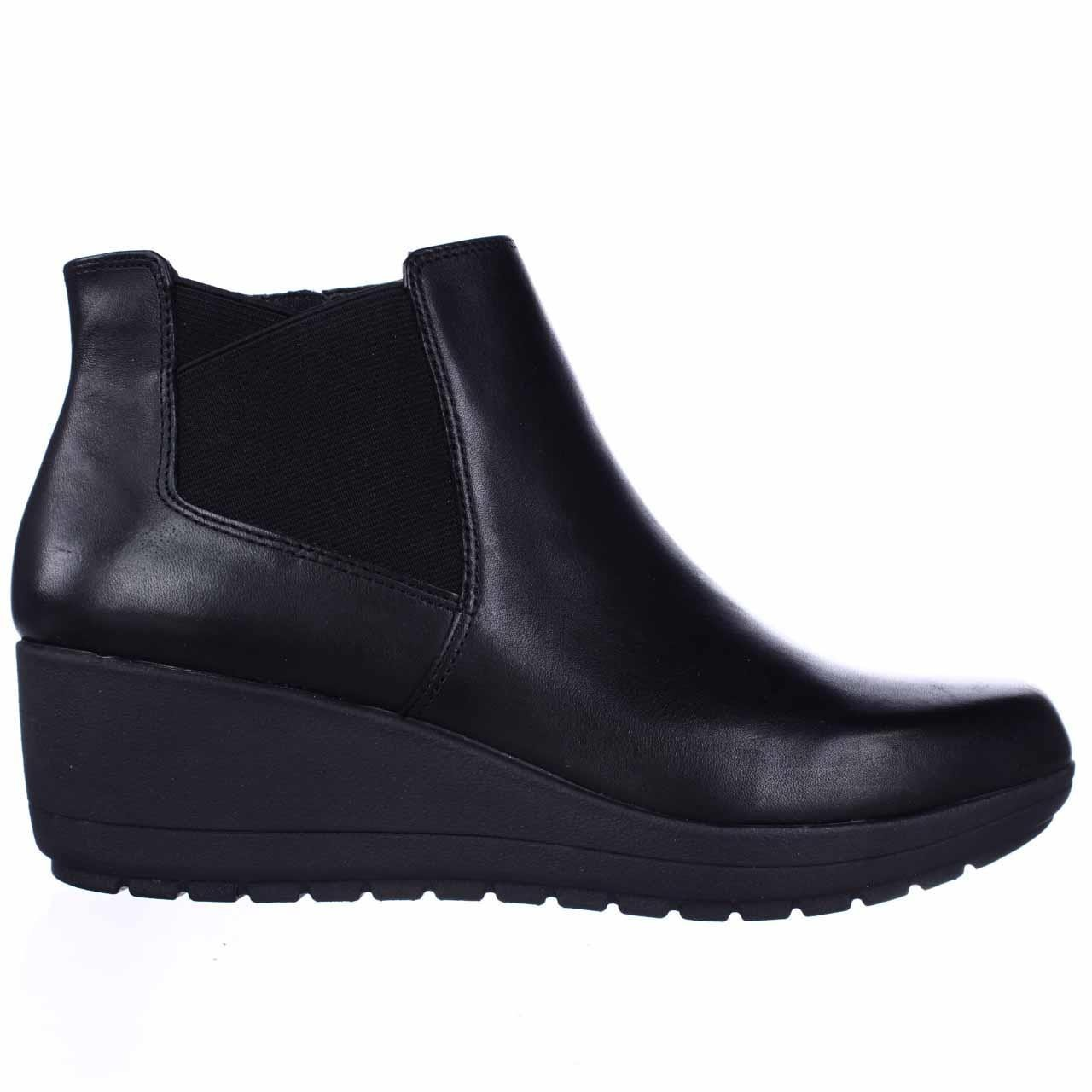 Womens Corby Leather Closed Toe Ankle Fashion Boots