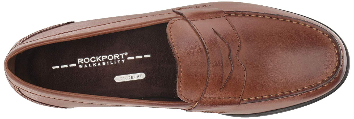 Rockport Mens M76445 Leather Square Toe Penny Loafer ...