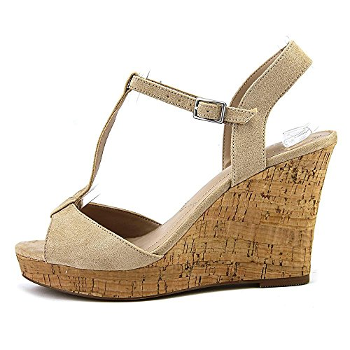 Charles by Charles David Womens Lucas Suede Open Toe Special Nude Size 65 Lk0