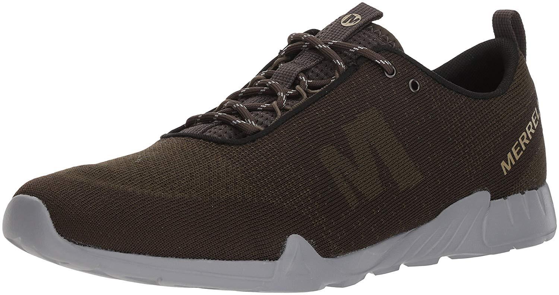 96abe107dbd81 Merrell Men's Versent Kavari Lace Knit Sneaker, Dusty Olive, Size ...