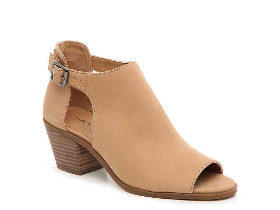 Lucky Brand Toe Damenschuhe barimo Leder Peep Toe Brand Ankle Fashion Stiefel  wheat  Größe 6.0 85bcd5