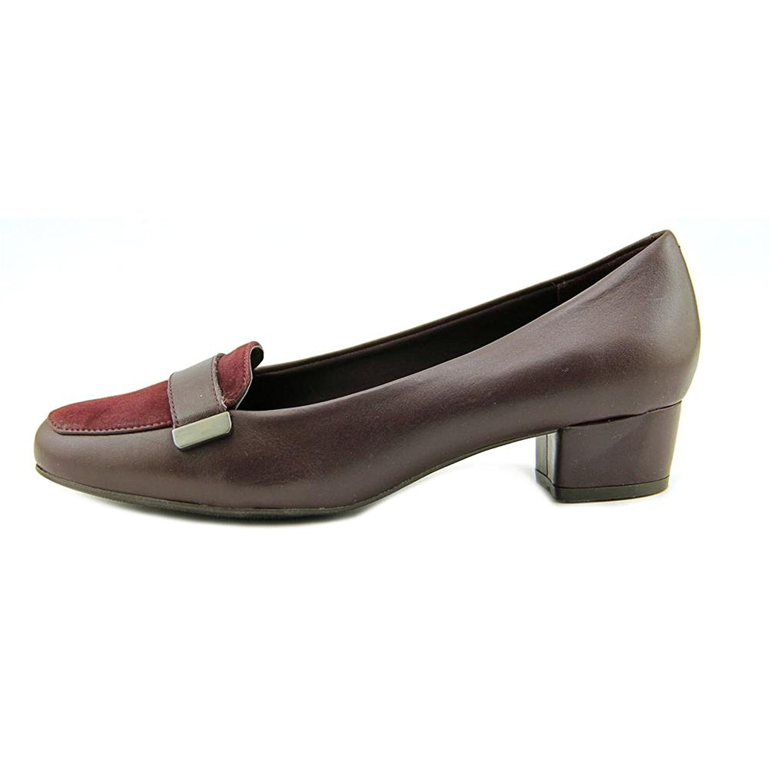 Easy Spirit Damenschuhe Ulana Leder Closed Toe Classic Pumps, Wine, Größe 10.0