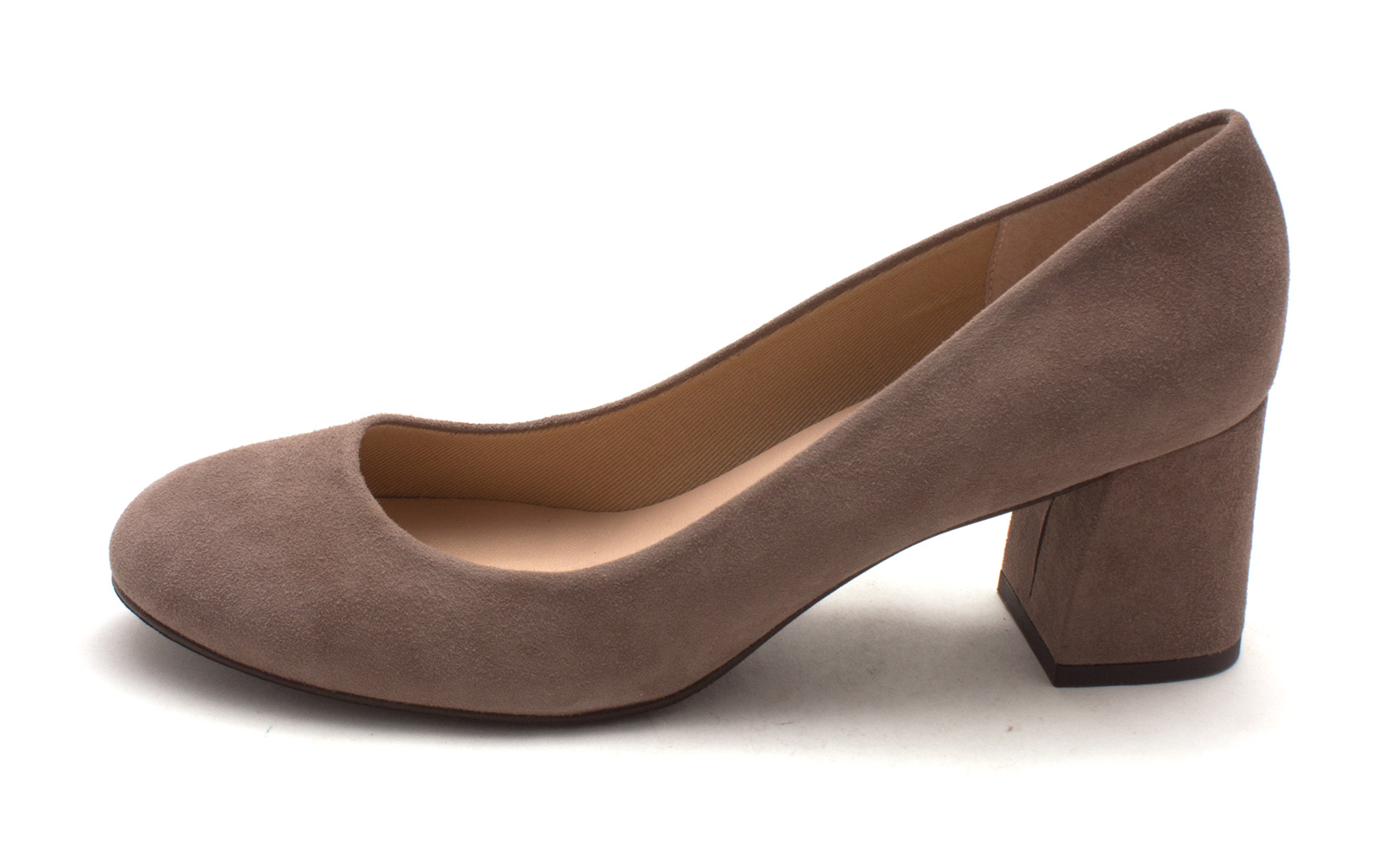 French Sole Womens TRANCE Suede Round Toe Classic Pumps Taupe Suede Size 11.0