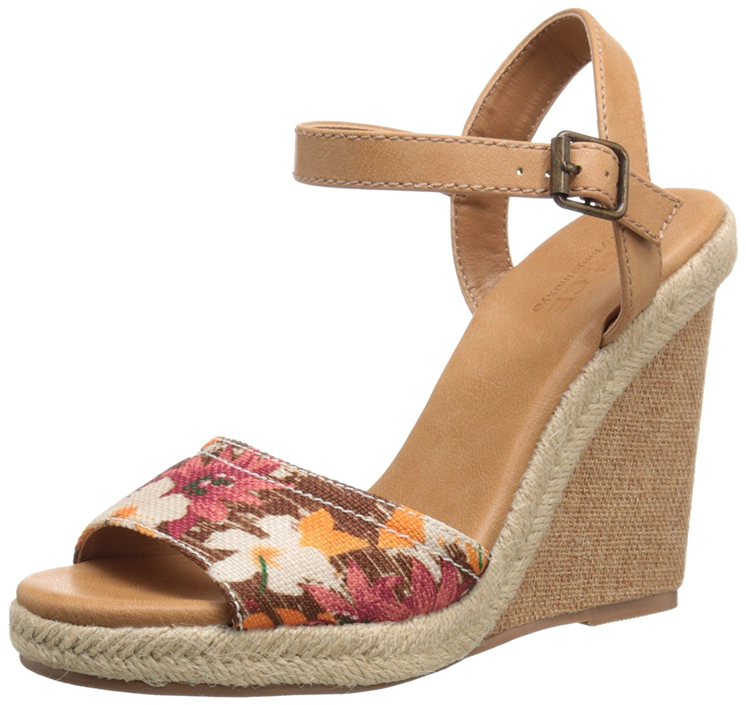 DOLCE by Mojo Moxy Womens Posey Fabric Open Toe Casual Platform Brown Size 90