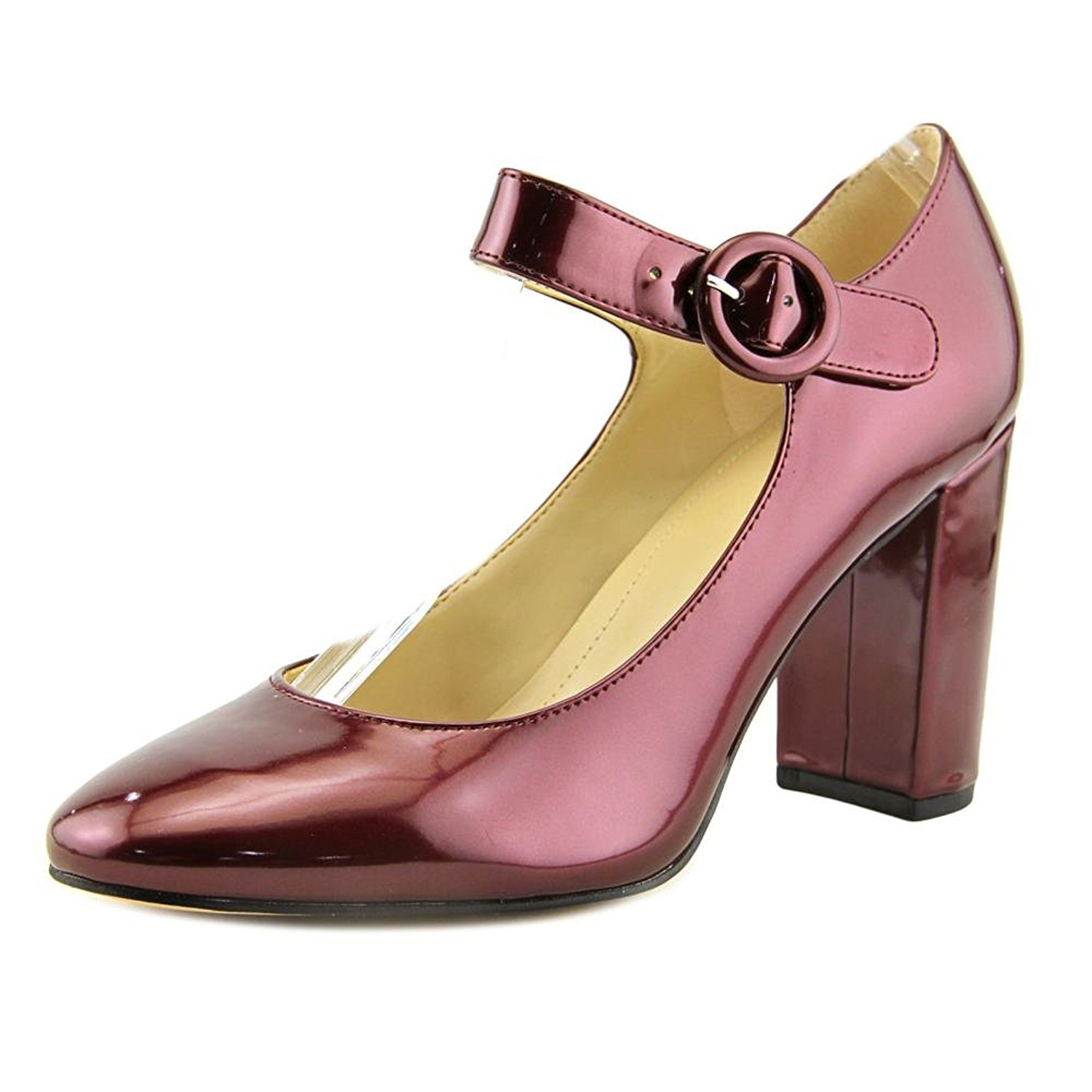 Marc Fisher Womens Shaylie Closed Toe Ankle Strap Mary Jane Dark Red Size 5.0