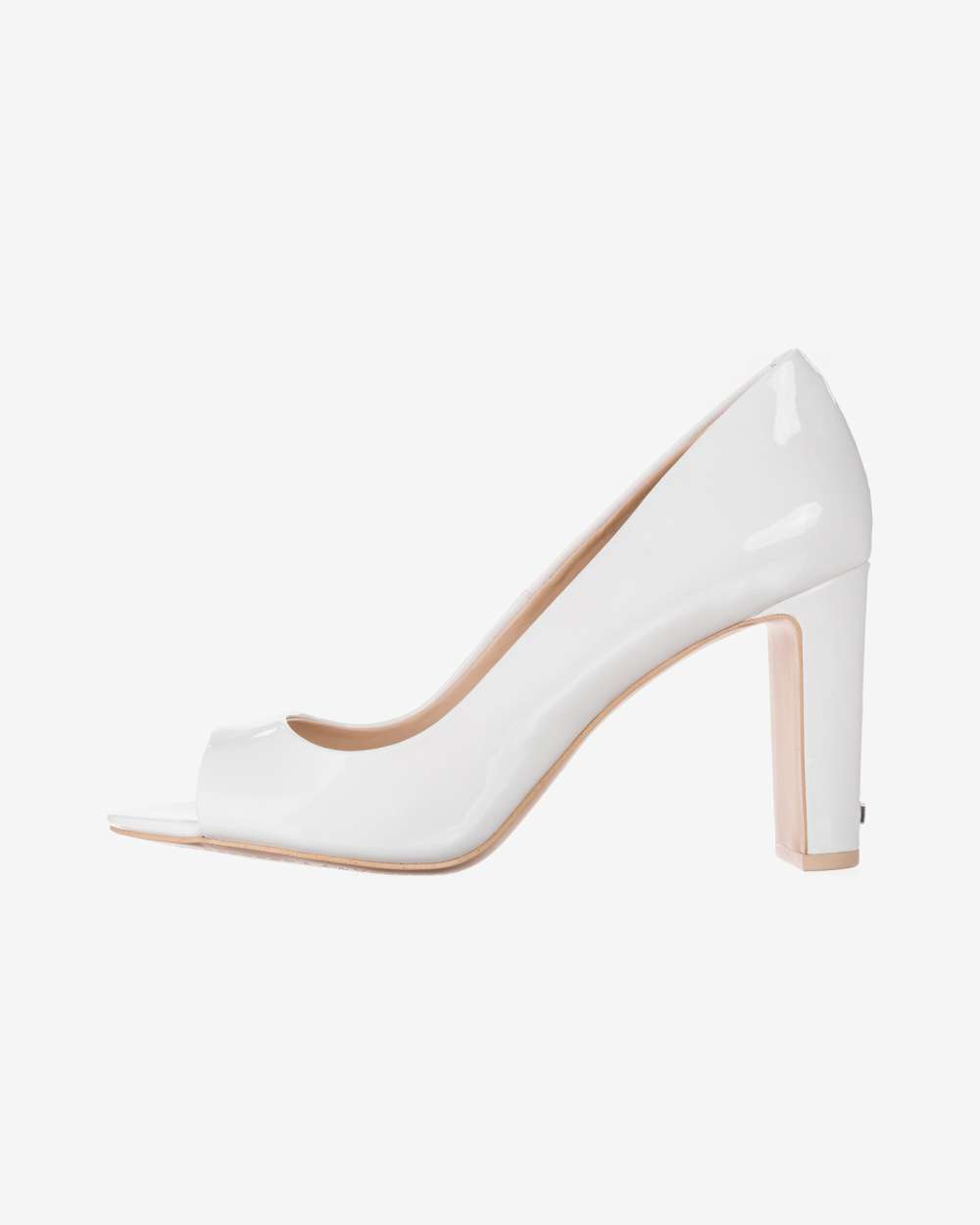 31f4c18fbd6 DKNY Womens Jade Leather Peep Toe Classic Pumps, White, Size 9.0 ...