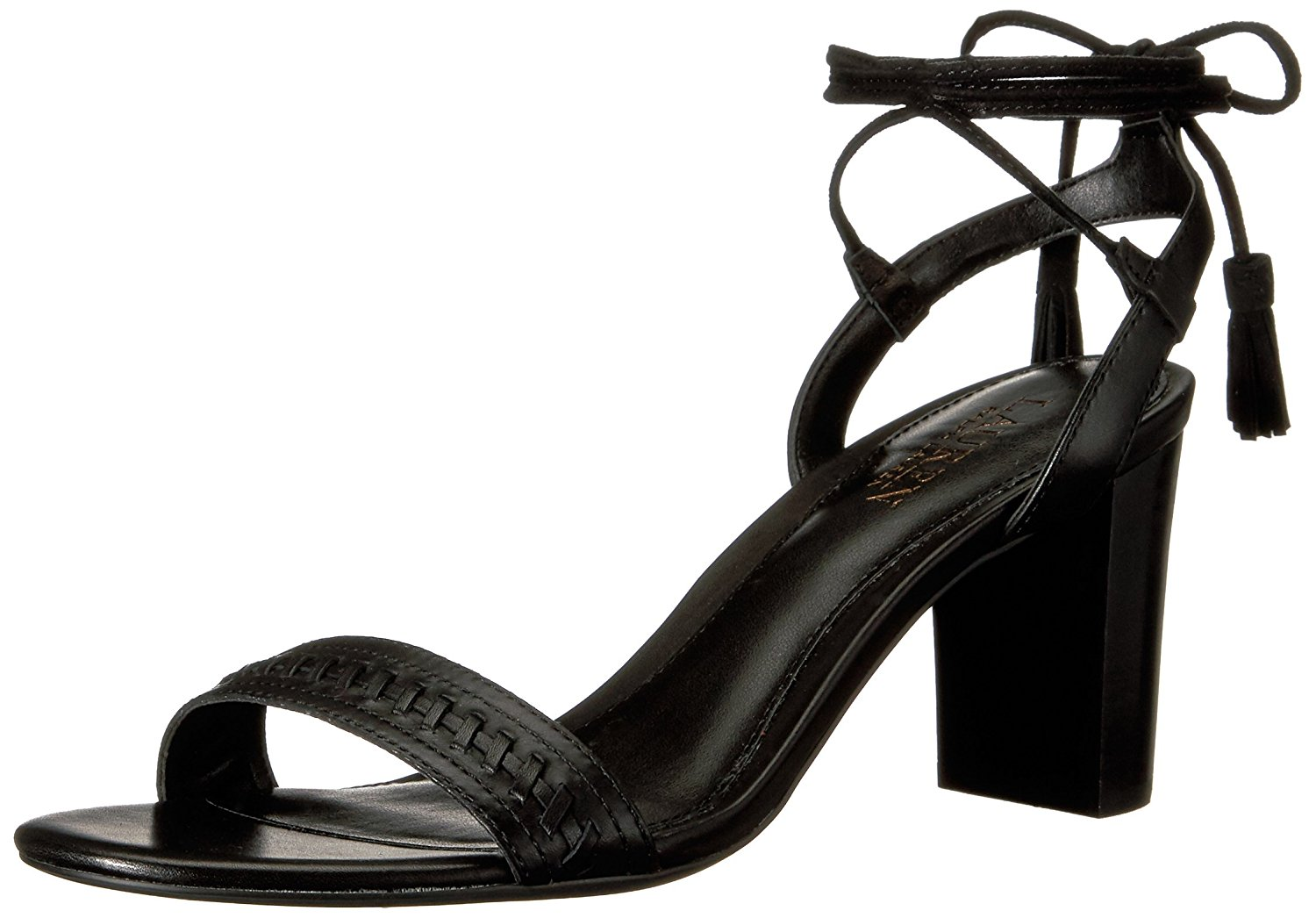 989b7647e41 Details about LAUREN by Ralph Lauren Womens Helaine Leather Open Toe Casual Strappy  Sandals