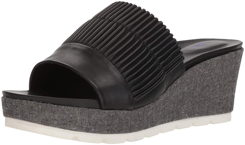 aa7c7e4be63 Tahari Womens Gigi Leather Open Toe Casual Platform Sandals