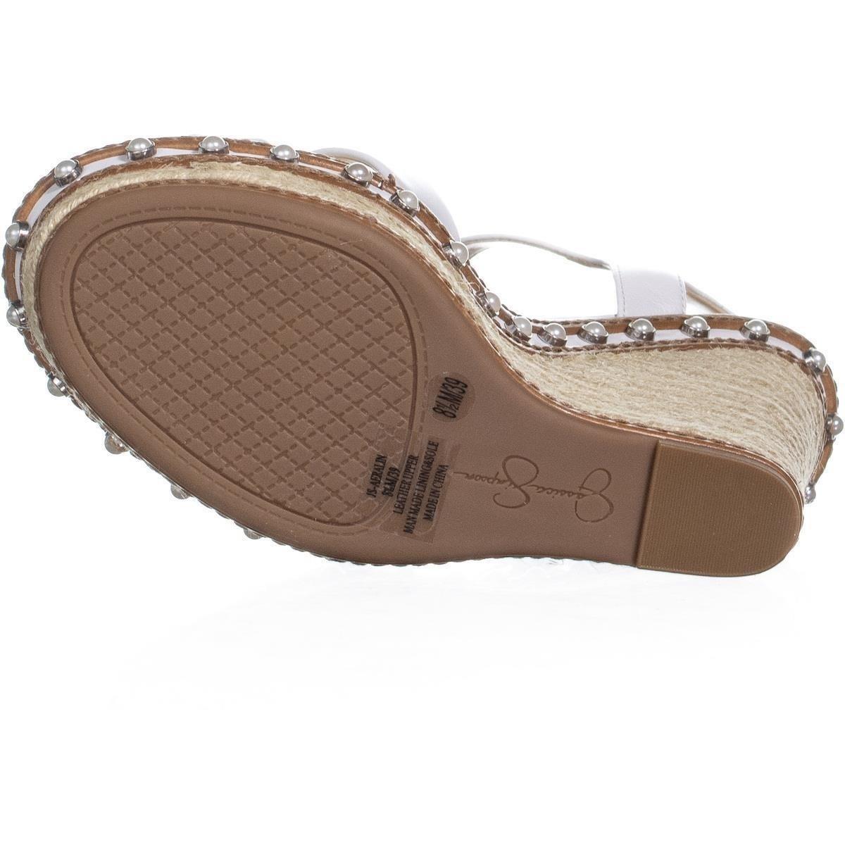 Jessica Simpson Womens Aeralin Leather Open Toe Casual