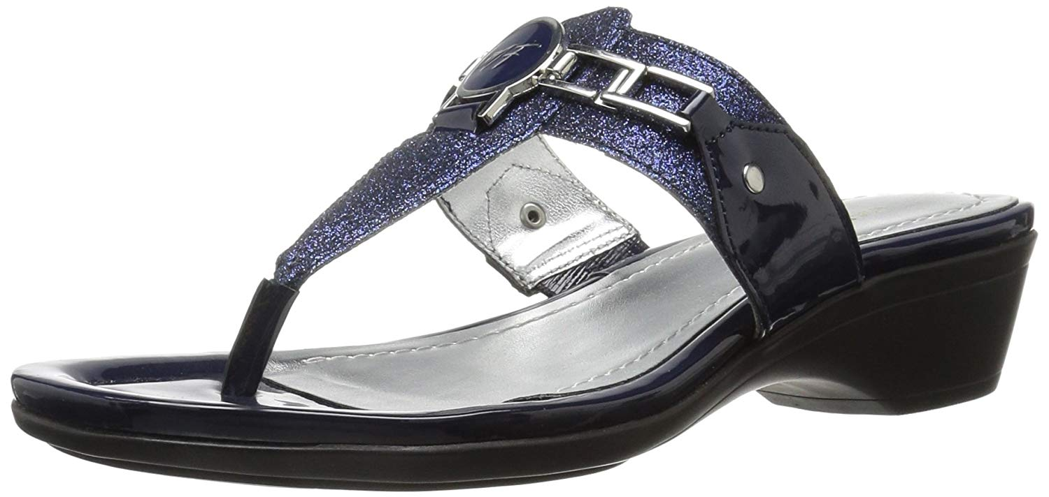 Marc Fisher Womens Amina Split Toe Casual Slide Sandals Pewter Size 9.0
