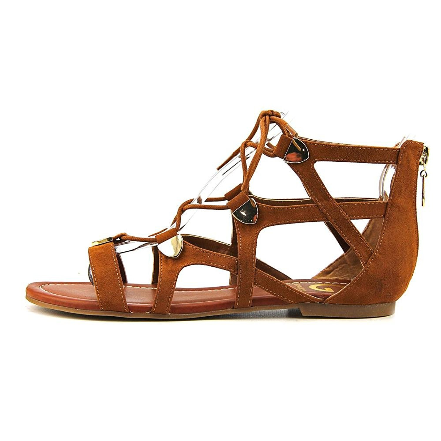 b1235bf8b728e0 G by GUESS Womens Lewy Fabric Open Toe Casual Gladiator Sandals ...