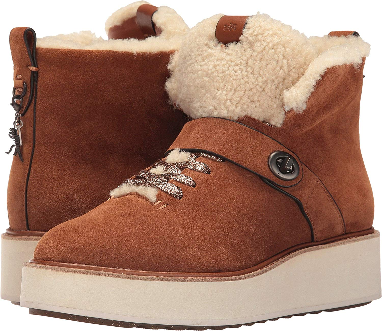 810669ebb7eb1a Coach Womens Urban Hiker Suede Closed Toe Ankle Cold Weather Boots ...