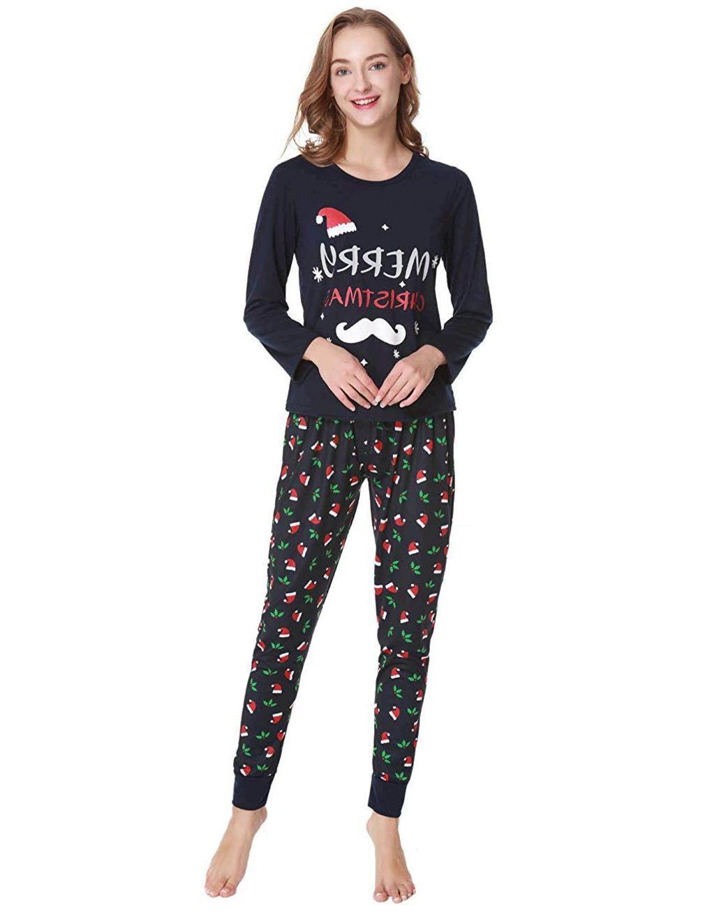 VENTELAN Family Matching Christmas Pajamas Set Holiday ...