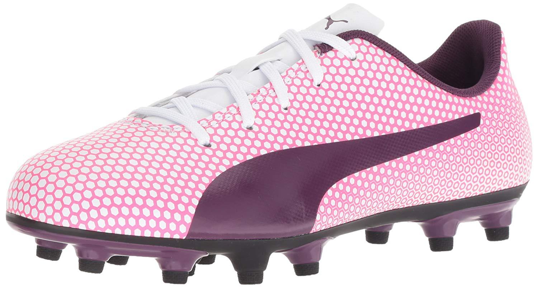 7100f9fdf73d76 Kids Puma Girls Spirit FG Jr Low Top Lace Up Soccer Sneaker