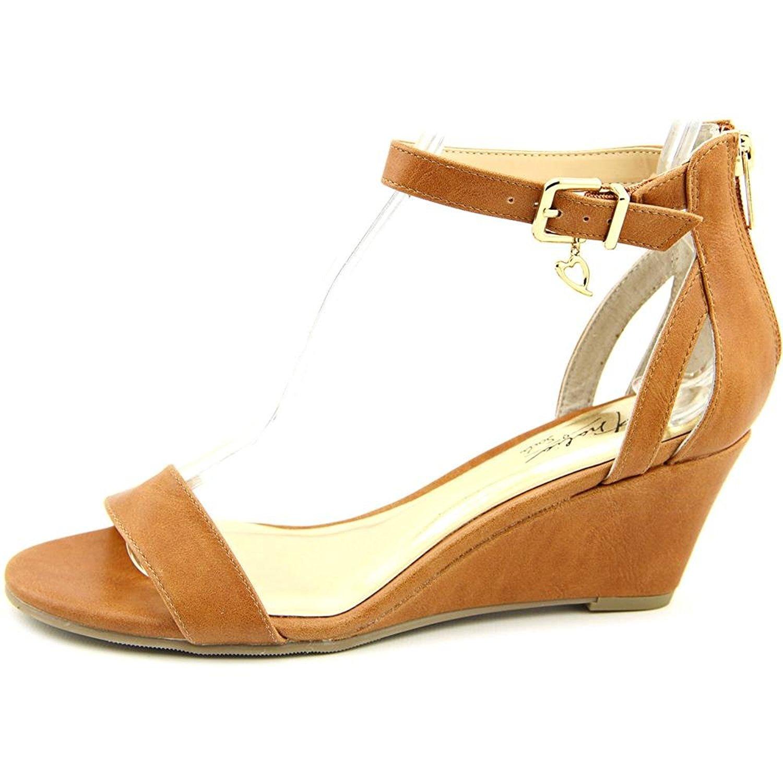 Thalia Sodi Womens Areyana Open Toe Casual Platform Sandals COGNAC Size 95