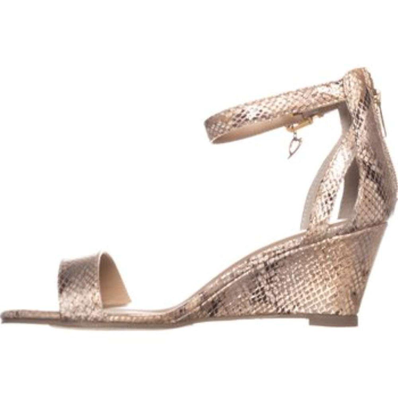 Thalia Sodi Womens Areyana Open Toe Casual Platform Champagne Snake Size 70 p