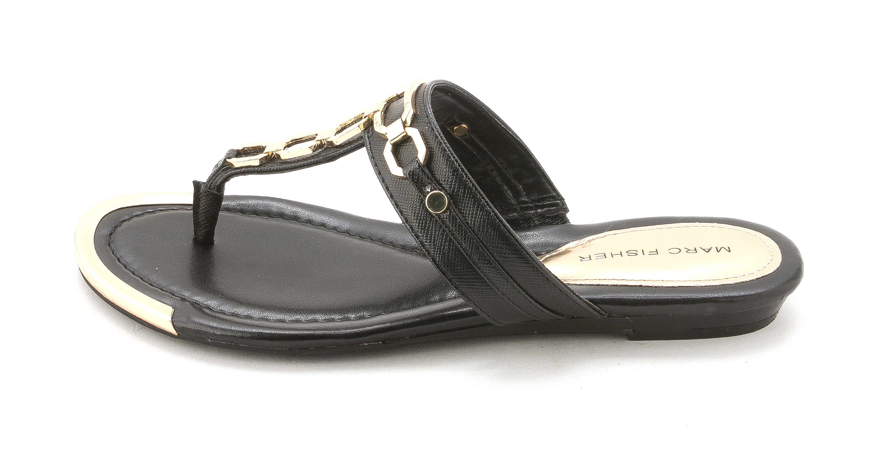Marc Fisher Womens MYRISSA Open Toe Casual Slide Sandals Black LL Size 70